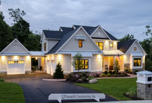 Picture of home with James Hardie Fiber Cement siding in the evening