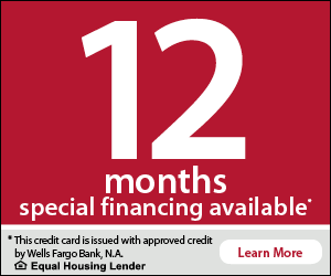 12 month special financing available.. and more!